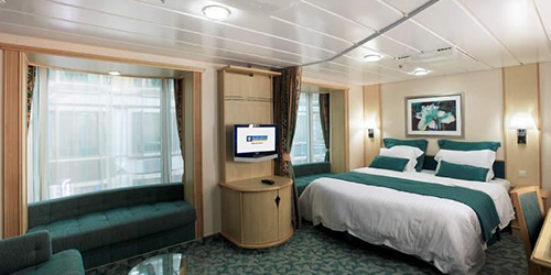 Interior, Family Interior and Promenade View Stateroom