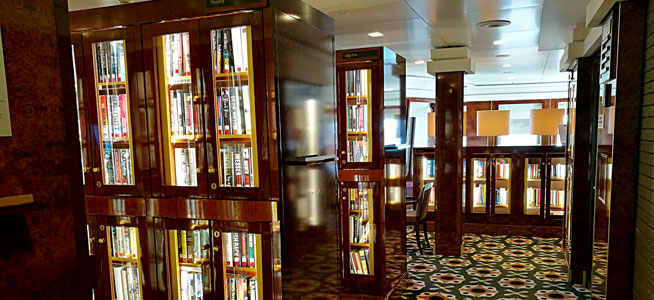 Queen Mary 2 boasts the largest library at sea, with 8,000 books
