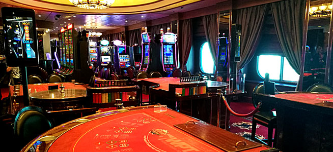 The Casino features traditional gaming tables alongside more modern machines